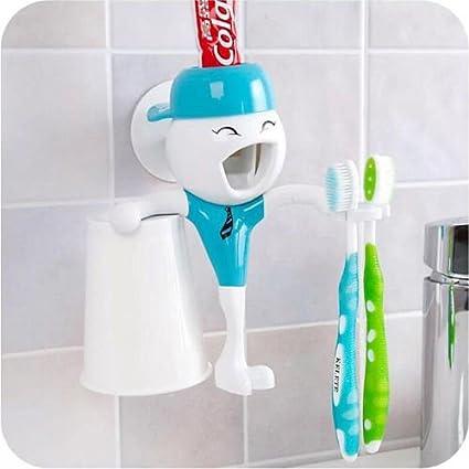 vipasnam-automatic baño dispensador de pasta de dientes cepillo de dientes Holder y taza regalo