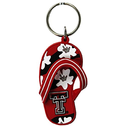 Game Day Outfitters Texas Tech University Flip Flop Keychain ()
