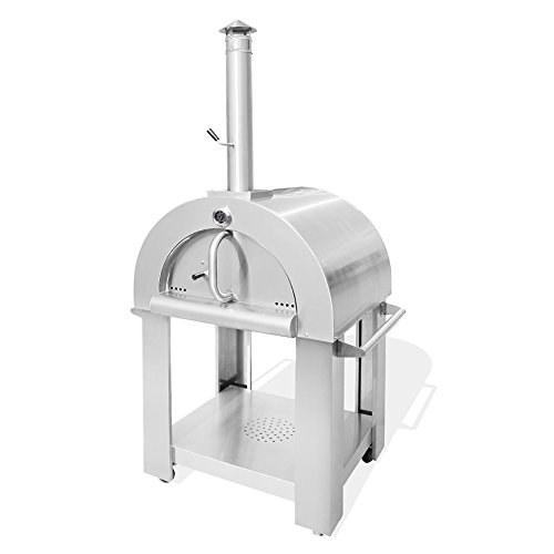 THOR KITCHEN Stainless Steel Wood Burning Pizza Oven High Grade Stainless Steel Wood Fired Pizza Oven Outdoor Cooking Tool