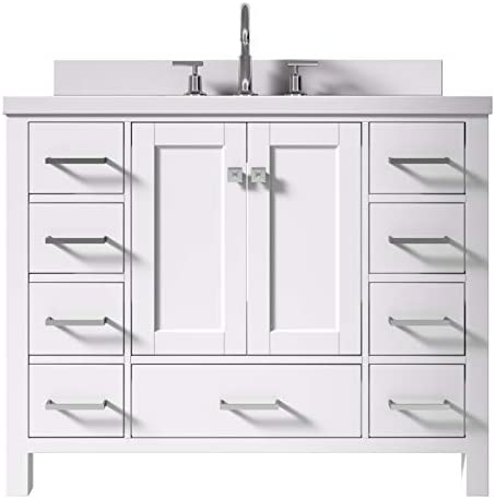 ARIEL 43″ Inch White Bathroom Vanity