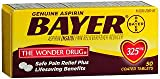 Bayer Genuine Aspirin Coated Tablets, 325 mg, 50 ea (Pack of 2)