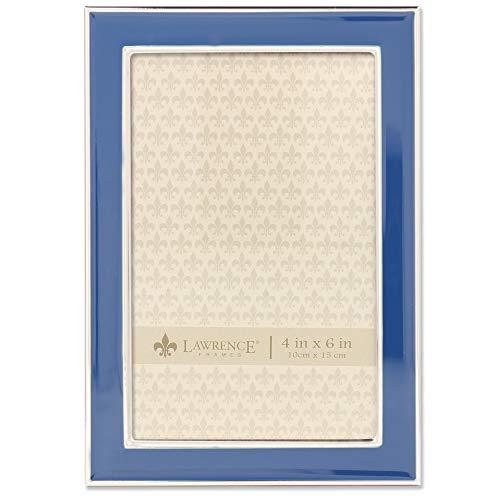 (Lawrence Frames 4x6 Navy Enamel Picture Frame, Blue )