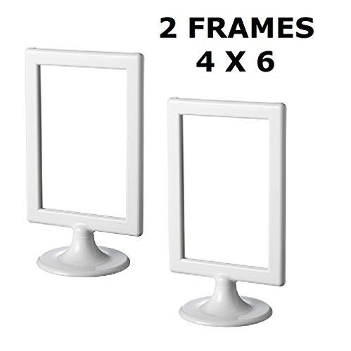 "Ikea Photo Frame Tolsby White 4 X 6""  Each Frame Holds 2 Pic"