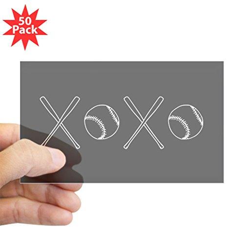 CafePress - Baseballs And Bats - Sticker (Rectangle 50 pk) by CafePress