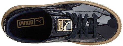 Patent Platform Bleu Basket Puma peacoat Sneakers Basses peacoat Femme FEBfq