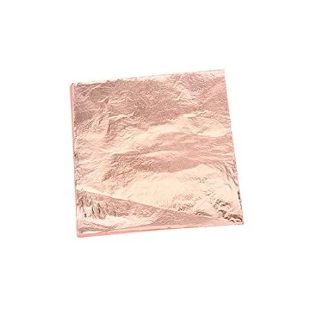100 Stück Gold/Silber/Rotgold Folie Blatt Papier Lebensmittel Kuchen Dekoration Vergoldung DIY Basteln