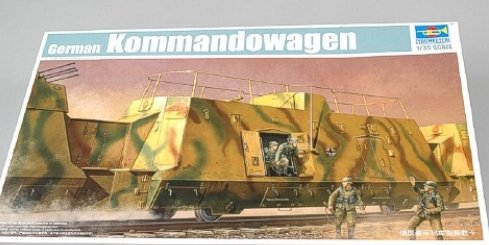 Trumpeter 1/35 WWII German Army Kommandowagen Armored Troop Transport Rail Car
