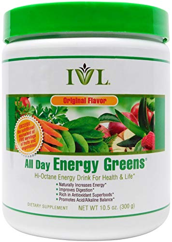 IVL - All Day Energy Greens - Hi-Octane Energy Drink For Healthy Lifestyle With Great Taste (Original Flavor, 1 Canister)