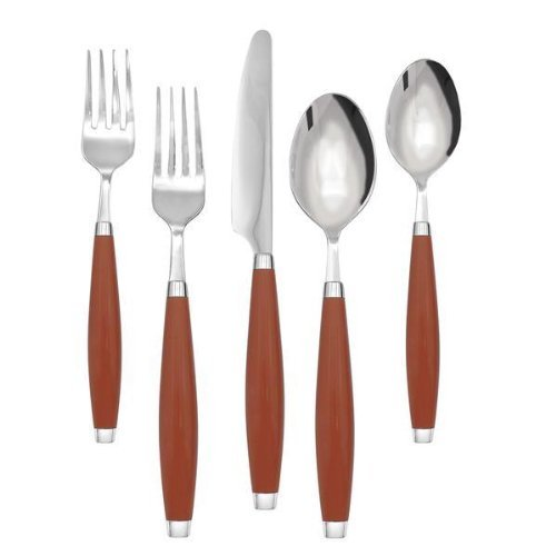 Paprika 5 Piece Place Setting by Unknown (Homer Laughlin Fork)