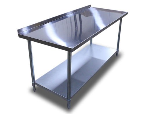 amazoncom new commercial restaurant stainless steel prep work table 2 backsplash 24x72 industrial scientific