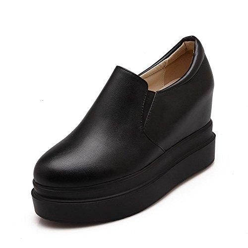 Materiaali Musta Toe Pehmeä Naisten Ympäri Korkokenkiä kengät Kiinteä Suljetun Weipoot pumppuihin Pull xgHPwYOqwt