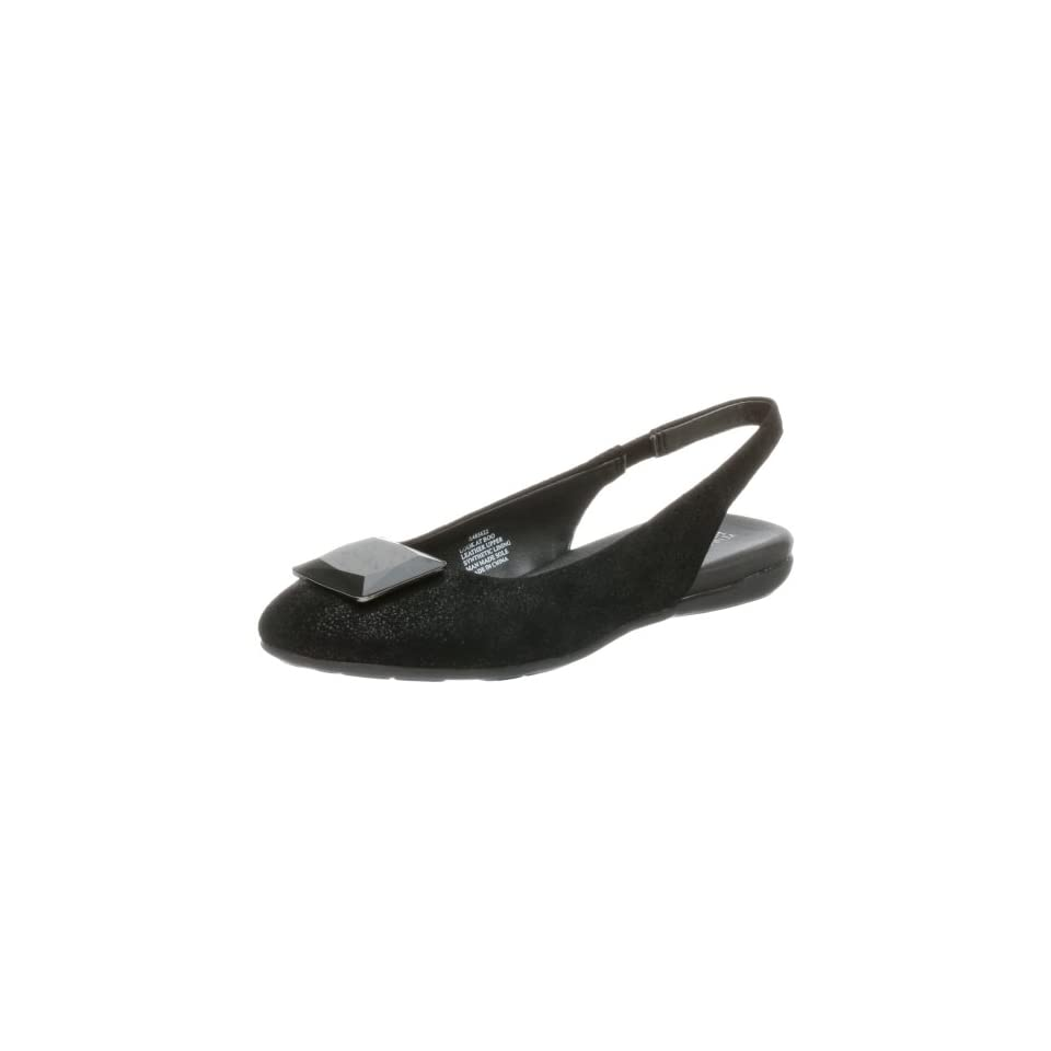 Kenneth Cole REACTION Womens Look at Boo Slingback Flat,Black,5.5 M