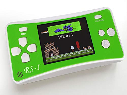 SKYRC Handheld Game Console for Kids,Classic Retro Game Player with 2.5 LCD 8-Bit Portable Video Games Compatible with PAL AAD NTSC TV ,152 in 1 Classic Games -- (Green)