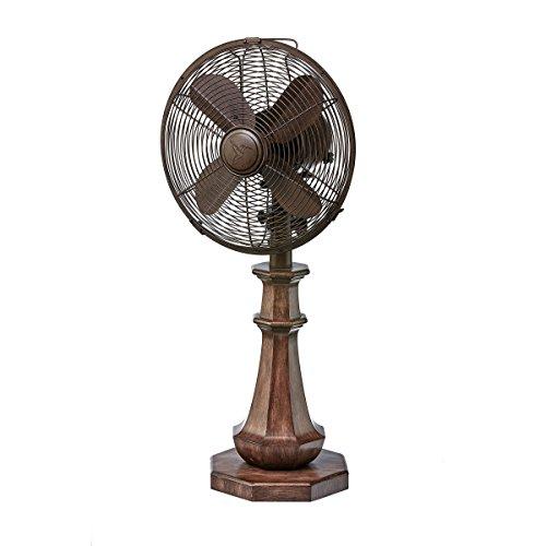 DecoBREEZE Oscillating Table Fan 3 Speed Air Circulator Fan, 10 In, Coronado by Deco Breeze