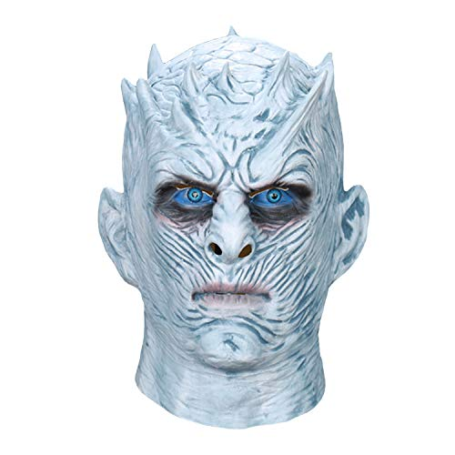 Halloween Costumes Argos (White Walker Night King Mask - The Night King Face Mask from Game of Thrones - Silicone Men's Full Head Halloween Costume)
