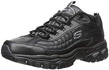 Skechers Sport Men's Energy Afterburn Lace-Up Sneaker,Black,8.5 M