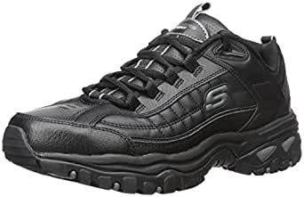 Skechers Men's Energy Afterburn Lace-Up Sneaker,Black,6.5 XW