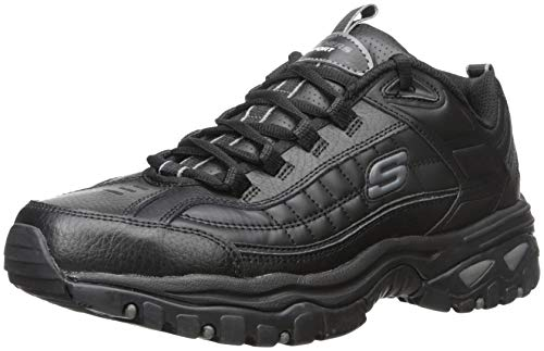Skechers Sport Men's Energy Afterburn Lace-Up Sneaker,Black,11 M (Best Deals On Skechers Shoes)