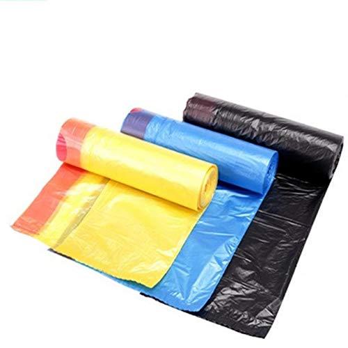 ZJW Bolsas de Basura con cordón, 4 Paquetes con Bolsas de Basura de 20 litros, Bolsas de Basura con Asas para Oficina, Cocina, salón, Dormitorio, ...