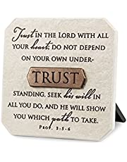 "Lighthouse Christian Products Trust Title Bar Plaque, 3 3/4 x 3 3/4"", Bronze"