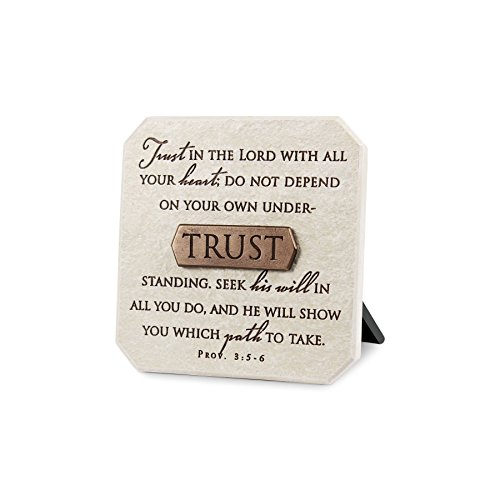 Lighthouse Christian Products Trust Title Bar Plaque, 3 3/4 x 3 3/4