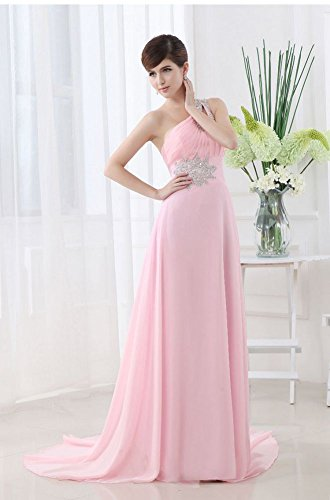 Reihe Beauty Emily Party Chiffon lang Ballkleid One Rose Shoulder rSxrwf0q
