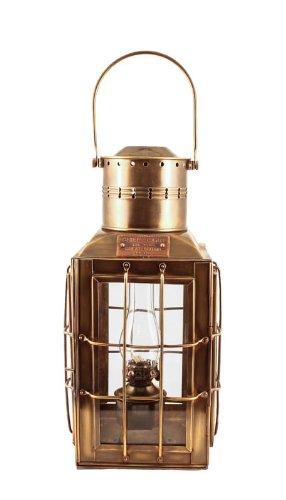 """Vermont Lanterns Brass Chiefs Oil Lamp - Nautical Lantern (15"""", Antique Brass)"""
