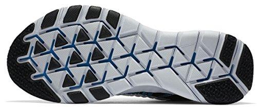 Nike Mens Fria Tr Kraft Flyknit Löparskor (9 D (m) Oss, Svart / Vit-blå Glöd)
