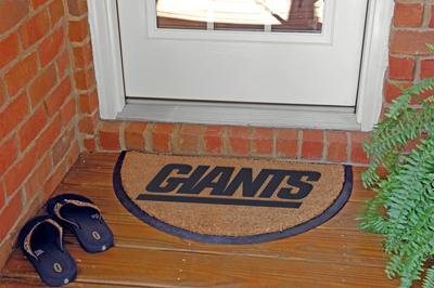 New York Giants Memory Company Team Half Moon Doormat NFL Football Fan Shop Sports Team Merchandise