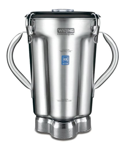 Waring Commercial CAC72 Stainless Steel 2-Handle Container with Blade Assembly and Lid, 1-Gallon