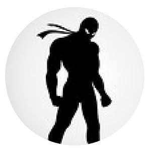 alfombrilla de ratón Ilustración de la silueta de un superhéroe en una máscara - ronda - 20cm
