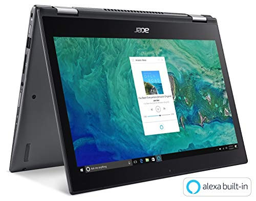 Acer Spin 5 SP515-51GN-83YY, 15.6″ Full HD Touch, 8th Gen Intel Core i7-8550U, GeForce GTX 1050, Alexa Built-in, 8GB DDR4, 1TB HDD, Convertible, Steel Gray