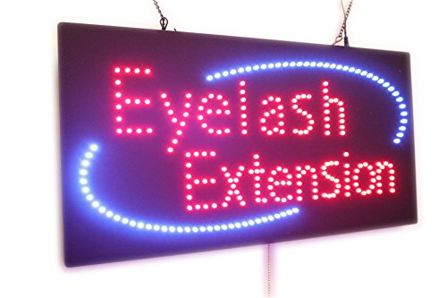 Eyelash Extension Sign, Super Bright High Quality LED Open Sign, Store Sign, Business Sign, Windows Sign, LED Neon Sign