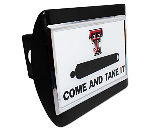 Texas Tech - Come and Take It METAL emblem on Black METAL Hitch Cover