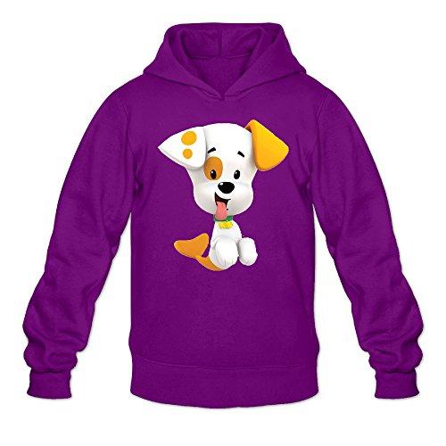 Bubble Guppies Bubble Puppy Men's Long Sleeve Sweatshirt Pullover Hoodie Purple US Size XL]()