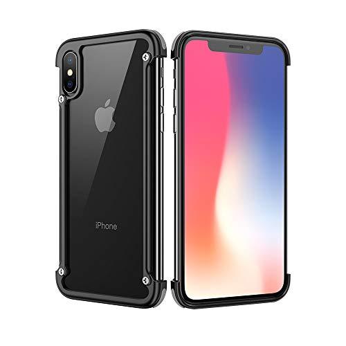 Bumper Aluminum - OATSBASF Bumper Case for iPhone Xs Max, Edge Bumper Utral Thin Aluminum Metal Cases, Shock Absorption Edge Case Support Wireless Charging