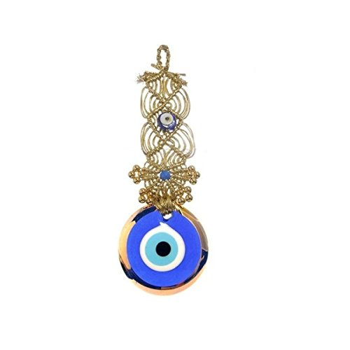 Evil Wall (CF76885256, Evil Eye Wall Ornament for Evil Eye Protection by Crystal Florida, 10 inches tall)
