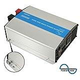 EPEVER 2000W Pure Sine Wave Inverter - 2000 Watt Continuous Power,24 Volt DC Input,2000 Watt Surge Peak Power,110VAC-120VAC Output 50HZ 60HZ,Pure Sine Wave, AC Direct Connect Terminal Block(2000W)