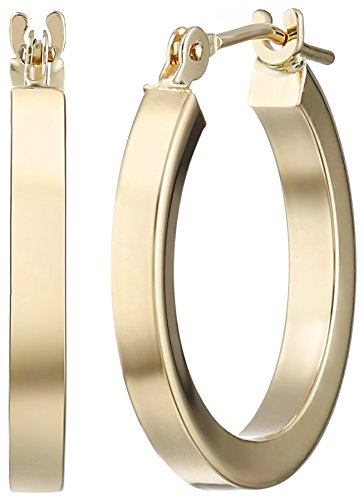 Yellow Gold Square Tube Earrings