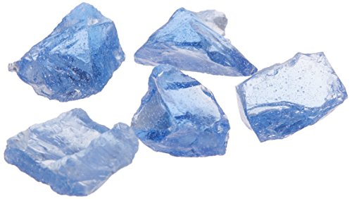 Dragon Glass 10 lb. Medium Light Blue Landscape Glass 1/2