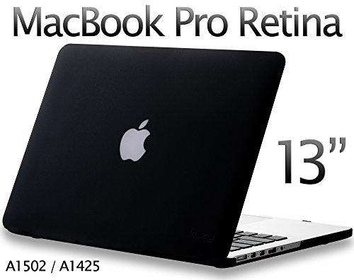 Kuzy - Older Version MacBook Pro 13.3 inch Case (Release 2015-2012) Rubberized Hard Cover for Model A1502 / A1425 with Retina Display Shell Plastic - BLACK by Kuzy (Image #8)