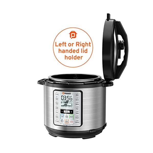 Potastic EP6 10-in-1 Programmable Electric Pressure Cooker,6 Quart,LCD Display,Instant Cooking with Stainless Steel Pot… 7