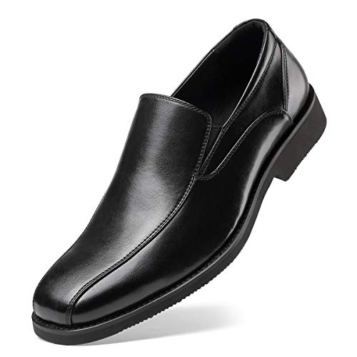 SEMANS Men's Dress Shoes- Classic Modern Formal Leader Slip On Loafer Black 7 D (M) US