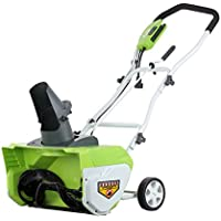 Greenworks 20-Inch 12 Amp Corded Snow Thrower 26032