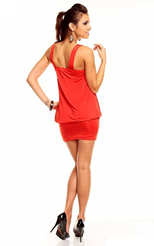 Taglia Abito Tunica 10 Donne Signore Migliore Una Di 4 8 Emilie Estate Di 6 Clubwear Partito Del Noi Rosso Delle Mini Sexy 6AqvPA