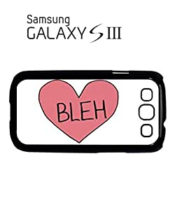 Bleh Broken Pink Heart Whatever Mobile Cell Phone Case Samsung Galaxy S3 Black