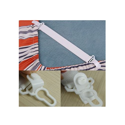 HuaYang Bed Sheet Bedspread Holder Grippers Straps Suspenders Elastic Holder 8Pcs