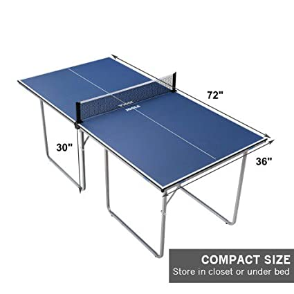 Amazon.com : JOOLA Midsize Compact Table Tennis Table Great For Small  Spaces And Apartments   Multi Use Free Standing Table   Compact Storage  Fits In Most ...