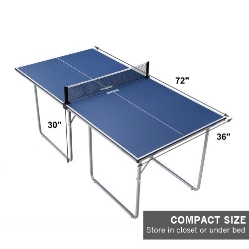 amazoncom joola midsize compact table tennis table great for small spaces and apartments multiuse free standing table compact storage fits in most - Carpet Ball Table