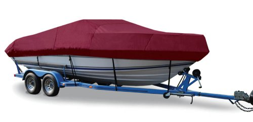 Taylor Made Products Trailerite Semi-Custom Boat Cover for V-Hull Cuddy Cabin Boats with Outboard Motor (19-5